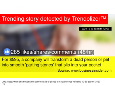 For $595, a company will transform a dead person or pet into smooth 'parting stones' that slip into your pocket - Похоронный портал