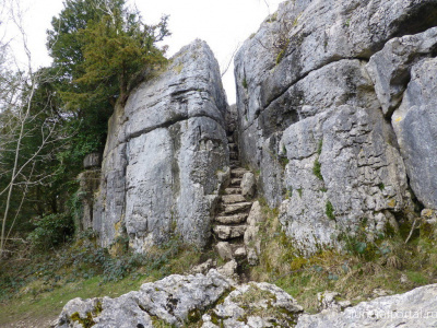 Fairy Steps. These legendary stone steps were once used to haul coffins up the rockface.  - Похоронный портал