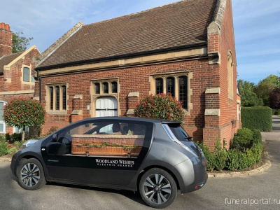 Electric hearse gives Woodland Wishes an environmentally friendly funeral service - Похоронный портал