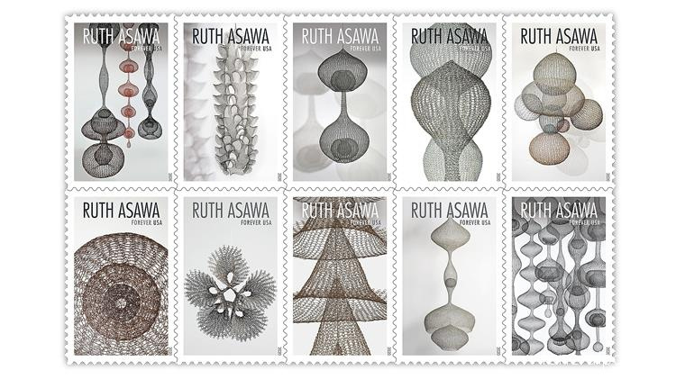 U.S. Postal Service Honors Sculptor And Arts Education Advocate Ruth Asawa with Forever Stamps - Похоронный портал