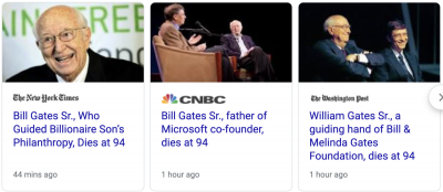 Bill Gates Sr., father of billionaire Microsoft co-founder, dead at 94 - Похоронный портал