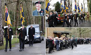 Hundreds of strangers turn out for funeral of Normandy veteran, 93, after his British Legion mates  - Похоронный портал