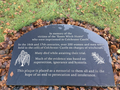 UK. Essex Witch Hunt Victims Memorial - Похоронный портал