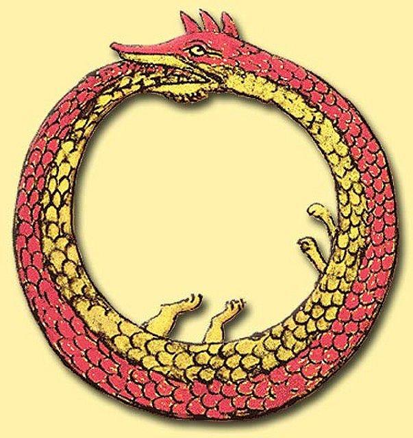 Картинка змея за хвост